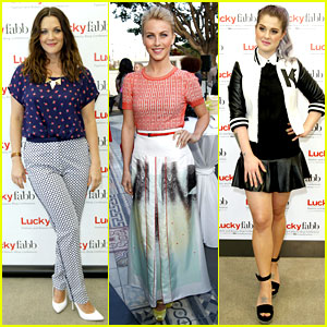 Drew Barrymore & Julianne Hough: LuckyFabb Event!