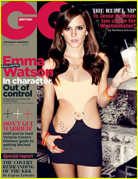 Emma Watson Covers 'British GQ' May 2013