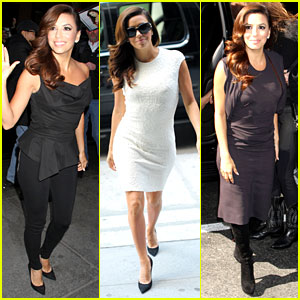 Eva Longoria: Morning Show Appearances in New York!