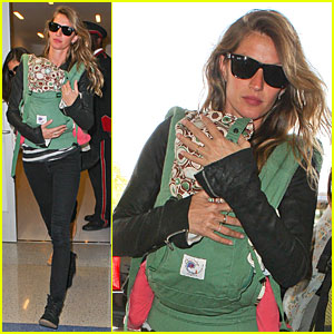 Gisele Bundchen & Vivian: LAX Departure After Earth Day!