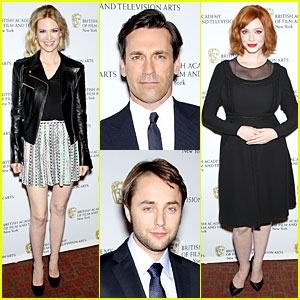 January Jones & Christina Hendricks: BAFTA 'Mad Men' Panel