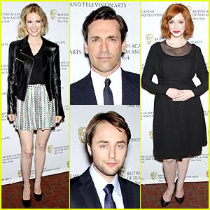 January Jones & Christina Hendricks: BAFTA 'Mad Men' Panel