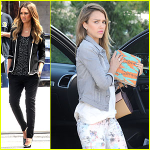 Jessica Alba: Commercial Filming in Santa Monica!