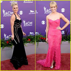 Kaley Cuoco & Beth Behrs - ACM Awards 2013 Red Carpet