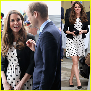 Kate Middleton: Pregnant Warner Bros. Studios Visit with Prince William!