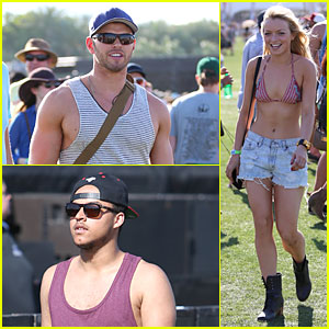 Kellan Lutz: Coachella Music Festival's First Day Attendee!