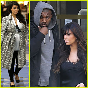 Kim Kardashian: Pregnant Paris Getaway with Kanye West!