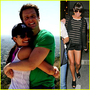 Lea Michele: Hike with Jonathan Groff & Dinner with Parents!