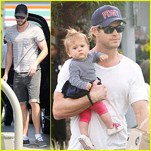 Liam & Chris Hemsworth: Filling Up on Gas & Groceries!