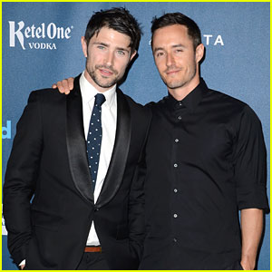 Matt Dallas & Blue Hamilton - GLAAD Media Awards 2013