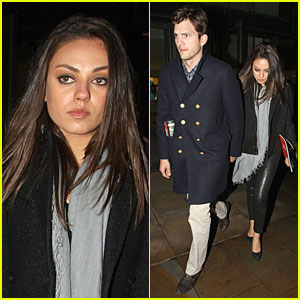Ashton Kutcher & Mila Kunis: Holding Hands in London!