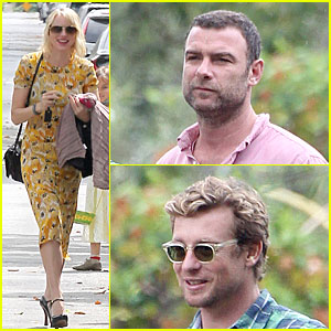 Naomi Watts & Liev Schreiber: Easter with Simon Baker!
