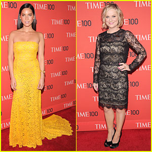 Olivia Munn & Amy Poehler - Time 100 Gala 2013 Red Carpet