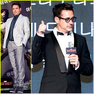 Robert Downey Jr.: 'Iron Man 3' Seoul Premiere & Photo Call!