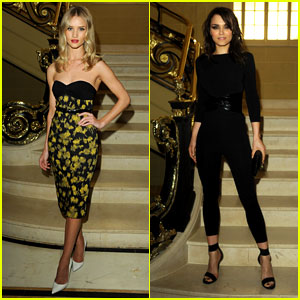 Rosie Huntington-Whiteley & Samantha Barks: Vogue Dinner!