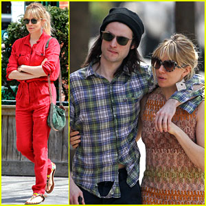 Sienna Miller: Lady in Red with Tom Sturridge!