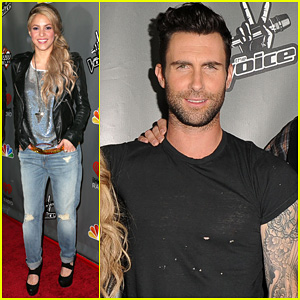 Adam Levine & Shakira: 'The Voice' Season 4 Finalists Party!