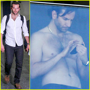 Bradley Cooper: Shirtless After Brazil Arrival with 'Hangover' Guys