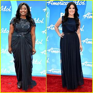 Candice Glover & Kree Harrison: 'American Idol' Finale Red Carpet