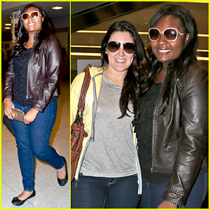 Candice Glover & Kree Harrison: JFK Arrival for 'Idol' Promo!
