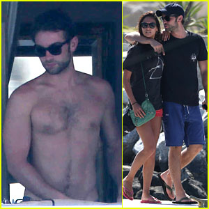Chace Crawford: Shirtless Vacation with Rachelle Goulding!