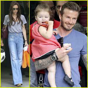 David & Victoria Beckham: Eiffel Tower Lunch with the Kids