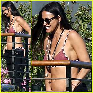 Demi Moore Rocks Bikini Poolside in Malibu!