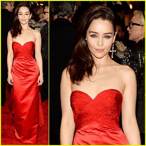 Emilia Clarke - Met Ball 2013 Red Carpet
