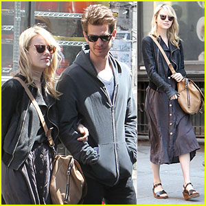 Emma Stone & Andrew Garfield: Morning Stroll Before 'Amazing Spider-Man 2' Filming!