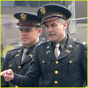 George Clooney & Matt Damon: Uniformed 'Monuments Men'