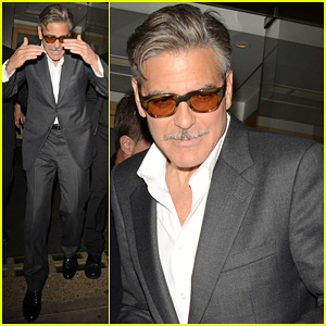George Clooney: Nobu Exit in London!