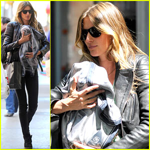 Gisele Bundchen Cradles Vivian in New York City