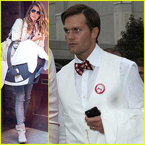 Gisele Bundchen & Tom Brady: Blue Ribbon Family Dinner!