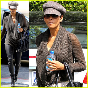 Halle Berry Rocks Leather Pants While Shopping in WeHo!