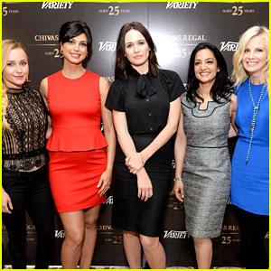 Hayden Panettiere & Morena Baccarin: Variety Emmy Studio!