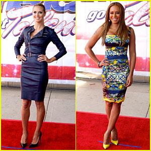 Heidi Klum & Mel B: 'America's Got Talent' in Illinois!