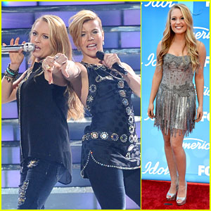 Janelle Arthur &#038; The Band Perry: 'American Idol' Finale! (Video)