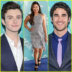 Jenna Ushkowitz & Chris Colfer: Fox Upfront Presentation with 'Glee' Cast!