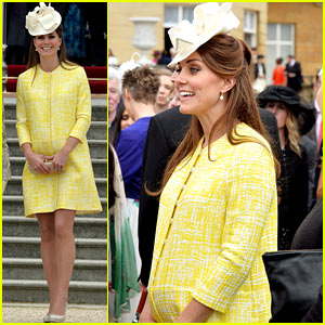 Kate Middleton Shows Off Baby Bump at Royal Garden Party