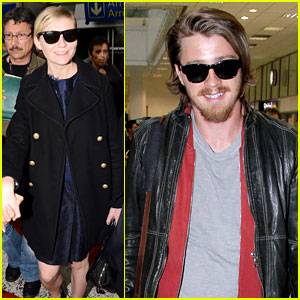 Kirsten Dunst & Garrett Hedlund Touch Down for Cannes
