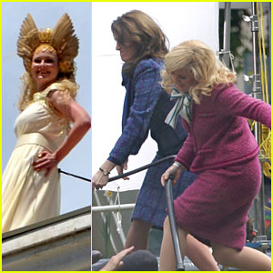 Kirsten Dunst, Tina Fey, & Amy Poehler: 'Anchorman 2' Ladies!