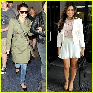 Lea Michele Lands at LAX, Jenna Ushkowitz Promotes Book