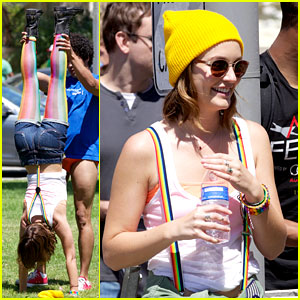 Leighton Meester Does Hand Stands for 'Life Partners'!