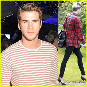 Liam Hemsworth Parties at Cannes, Miley Cyrus' Plaid Recording Session!