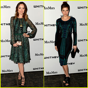 Olivia Wilde & Lake Bell: Whitney Museum Art Party 2013!