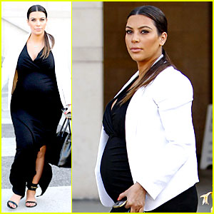Pregnant Kim Kardashian: Black & White is Chic for Spring!