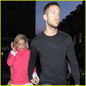 Rita Ora & Calvin Harris Hold Hands at Daft Punk Party!