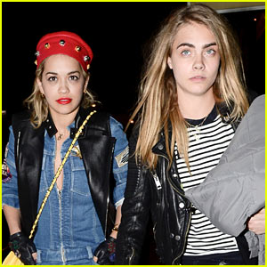 Rita Ora & Cara Delevingne Head to the Studio!