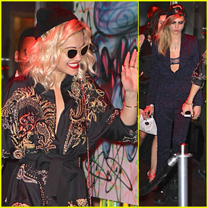 Rita Ora & Cara Delevingne - Met Ball 2013 After Party!