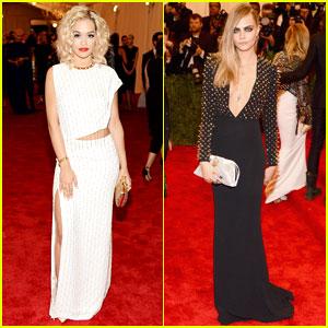 Rita Ora & Cara Delevingne - Met Ball 2013 Red Carpet
